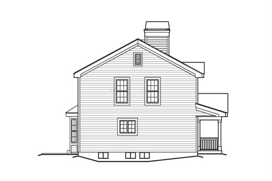 138-1162: Home Plan Left Elevation