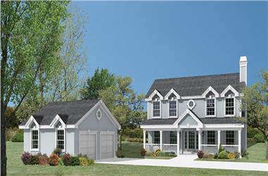 3-Bedroom, 2050 Sq Ft Country Home Plan - 138-1162 - Main Exterior