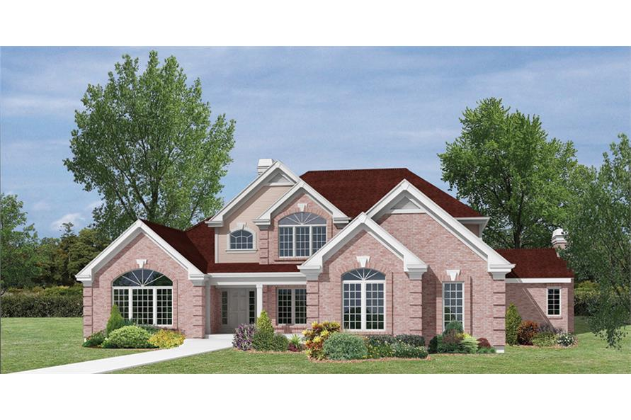 Home Plan Rendering of this 4-Bedroom,3888 Sq Ft Plan -138-1163