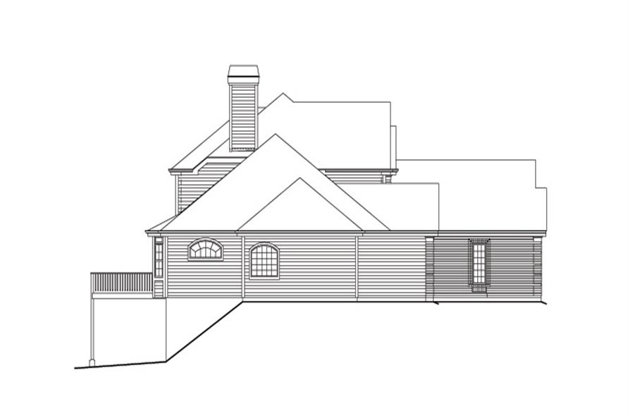Home Plan Left Elevation of this 4-Bedroom,3888 Sq Ft Plan -138-1163