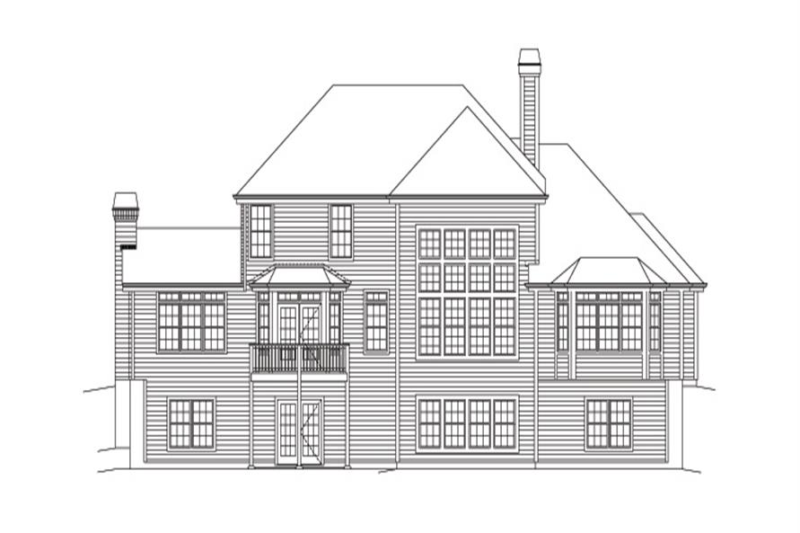 138-1163: Home Plan Rear Elevation