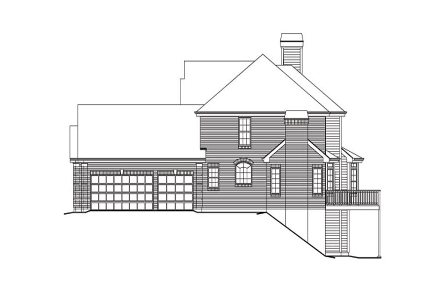 138-1163: Home Plan Right Elevation
