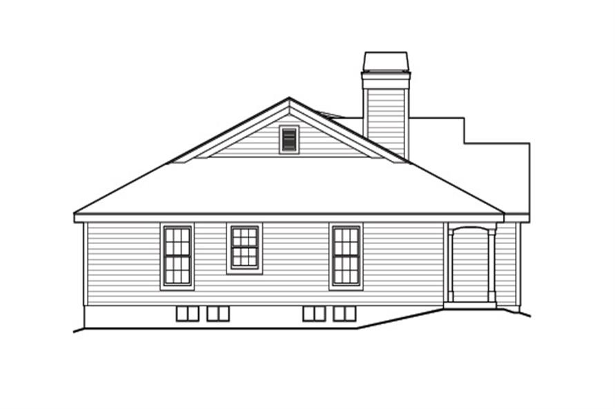 Home Plan Left Elevation of this 2-Bedroom,1316 Sq Ft Plan -138-1164