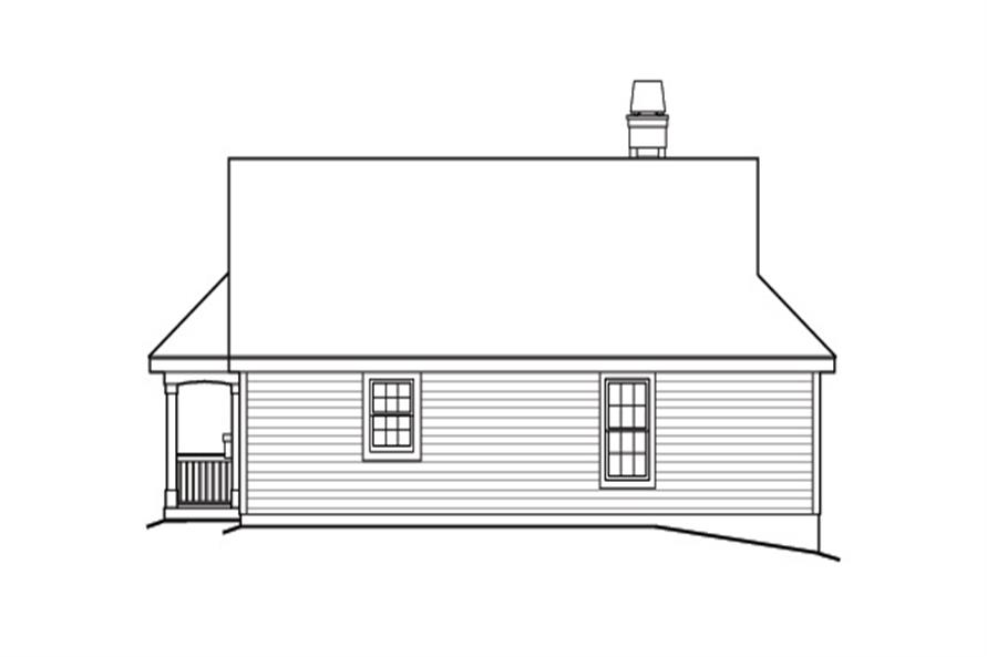 Home Plan Rear Elevation of this 2-Bedroom,1316 Sq Ft Plan -138-1164