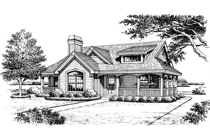 Home Plan Rendering of this 2-Bedroom,1316 Sq Ft Plan -1316