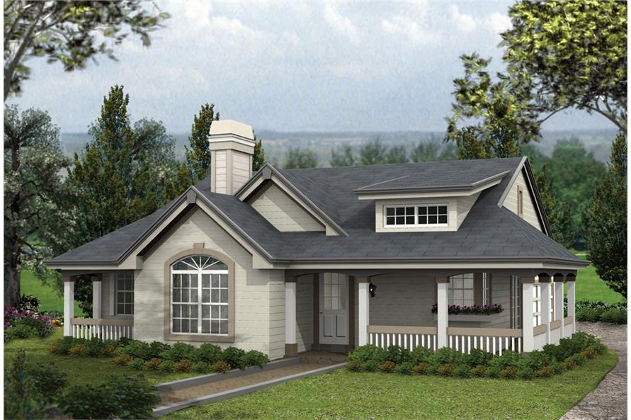 2-Bedroom, 1316 Sq Ft Cottage House Plan - 138-1164 - Front Exterior