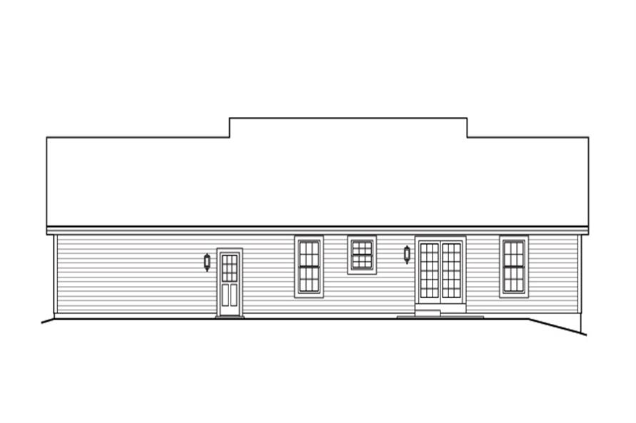 138-1165: Home Plan Rear Elevation