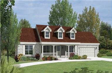3-Bedroom, 1310 Sq Ft Ranch House Plan - 138-1165 - Front Exterior