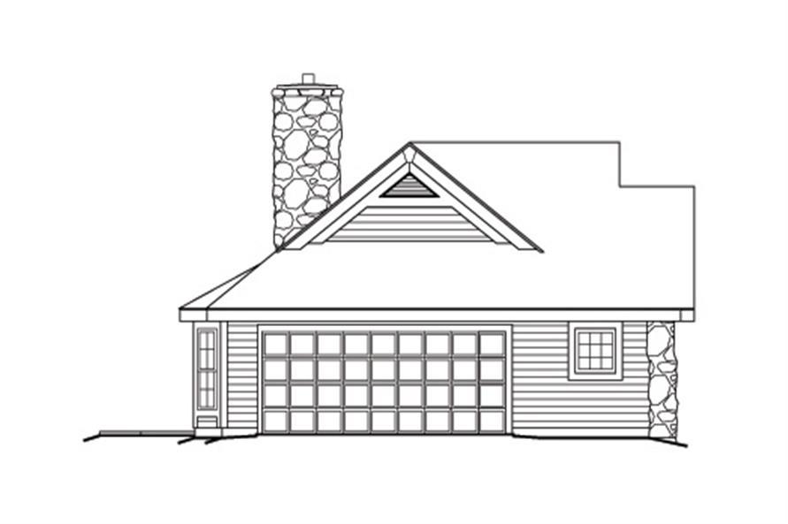 138-1166: Home Plan Left Elevation