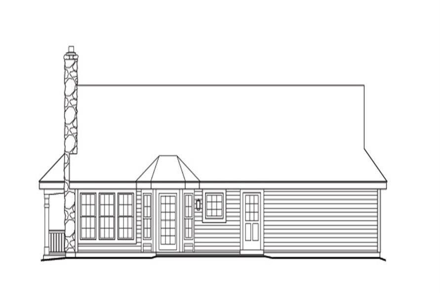 138-1166: Home Plan Rear Elevation