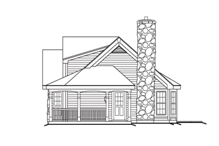 138-1166: Home Plan Right Elevation