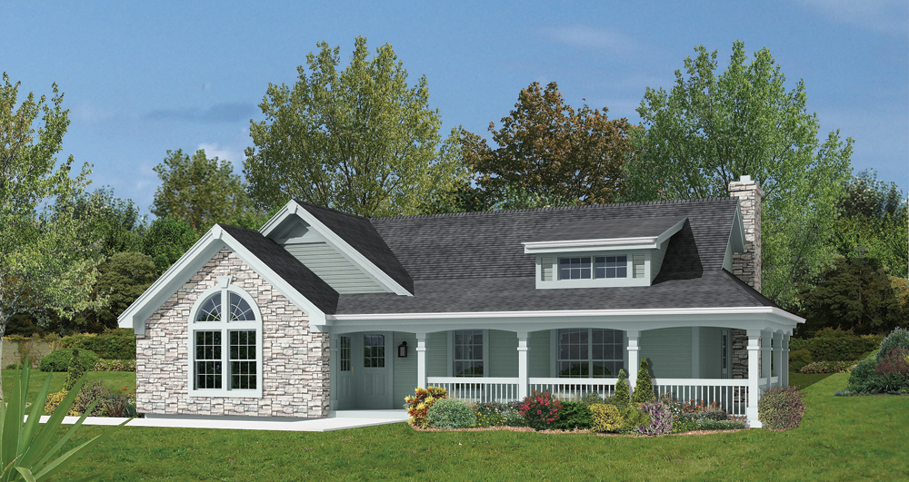 Ranch house plan 138 1166 2 bedrm 801 sq ft home for Ranch style house plans with attached garage