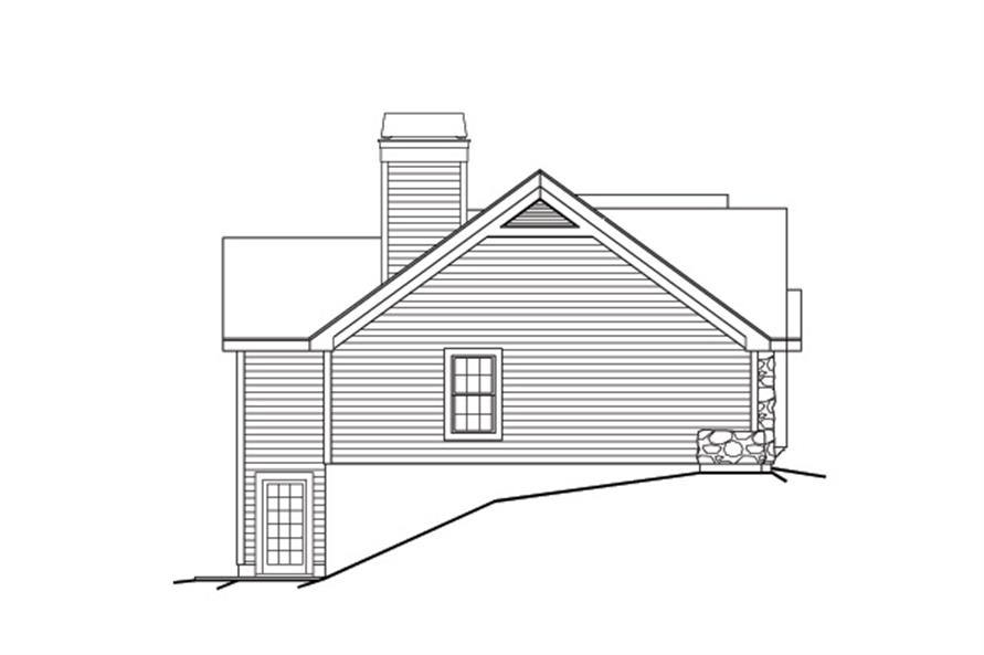 138-1167: Home Plan Left Elevation