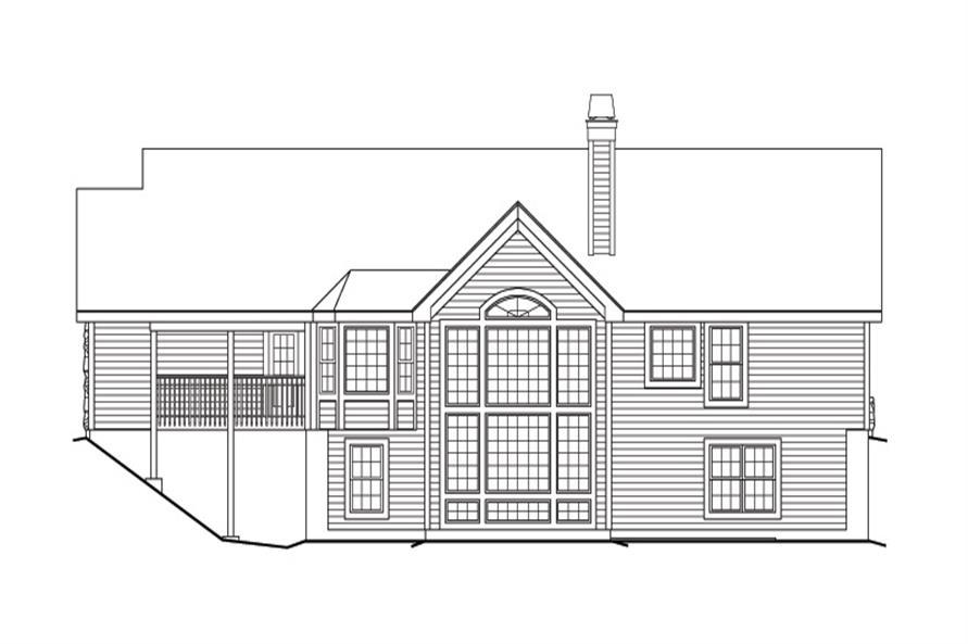 138-1167: Home Plan Rear Elevation