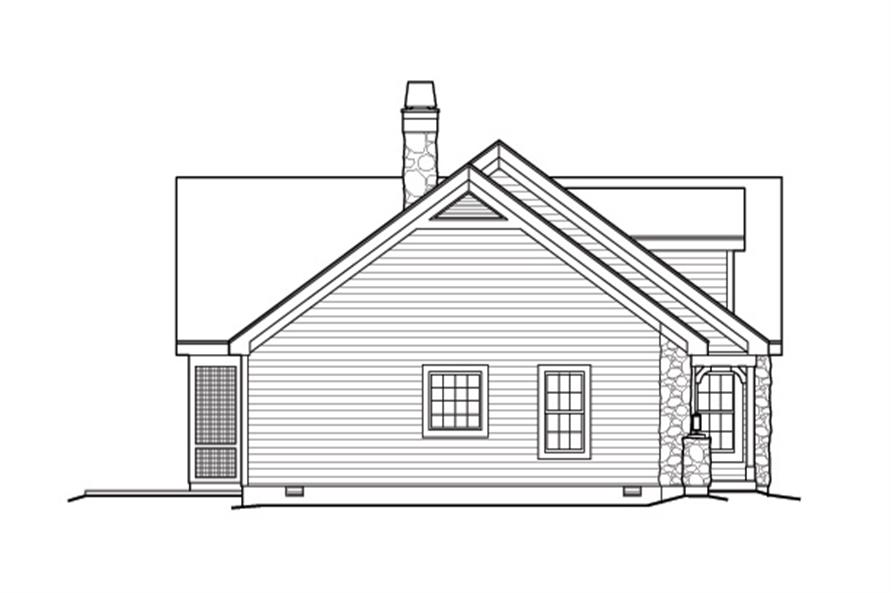 Home Plan Left Elevation of this 2-Bedroom,1568 Sq Ft Plan -138-1168