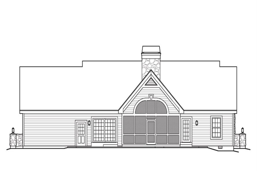 Home Plan Rear Elevation of this 2-Bedroom,1568 Sq Ft Plan -138-1168