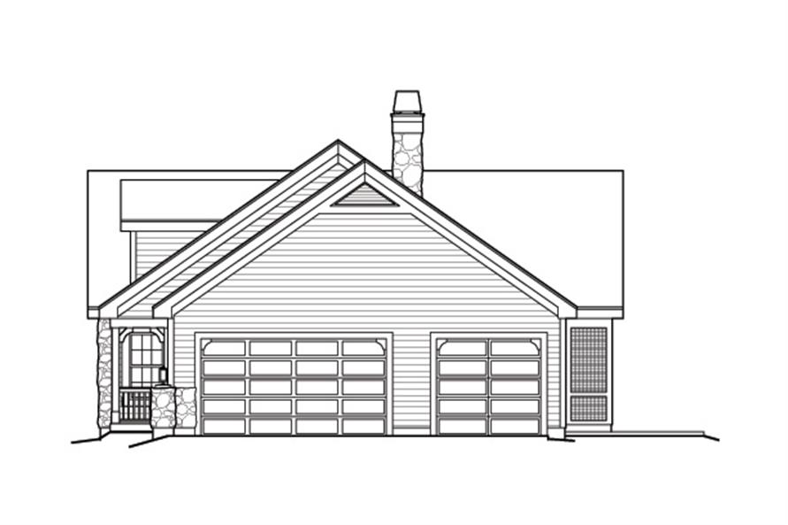 Home Plan Right Elevation of this 2-Bedroom,1568 Sq Ft Plan -138-1168