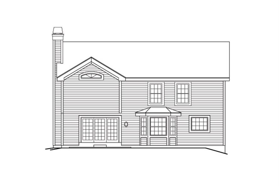 138-1169: Home Plan Rear Elevation