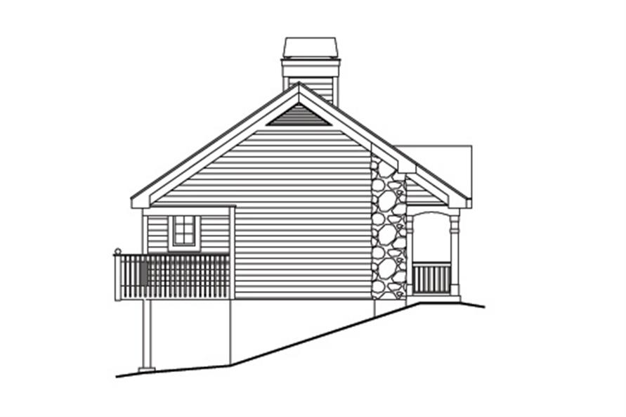 138-1170: Home Plan Left Elevation