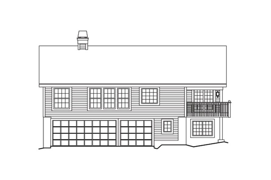 138-1170: Home Plan Rear Elevation