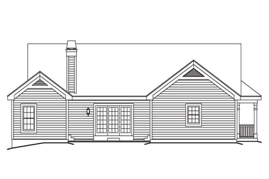138-1171: Home Plan Rear Elevation