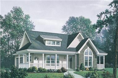 3-Bedroom, 1591 Sq Ft Country House Plan - 138-1171 - Front Exterior