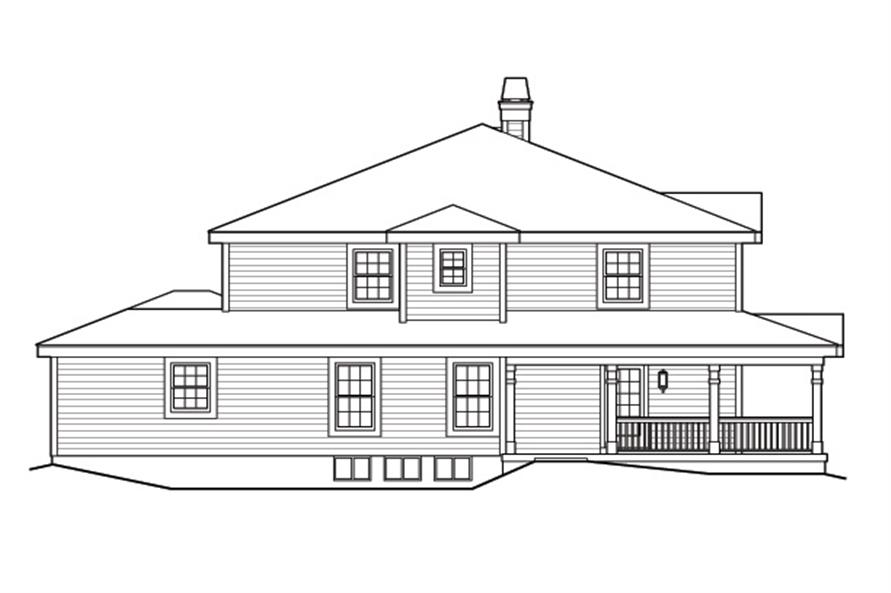 138-1172: Home Plan Left Elevation