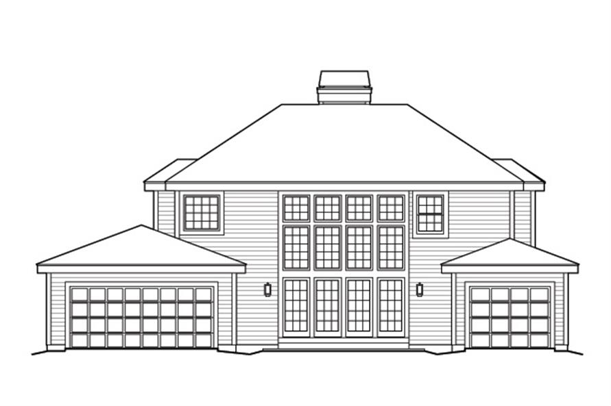 138-1172: Home Plan Rear Elevation