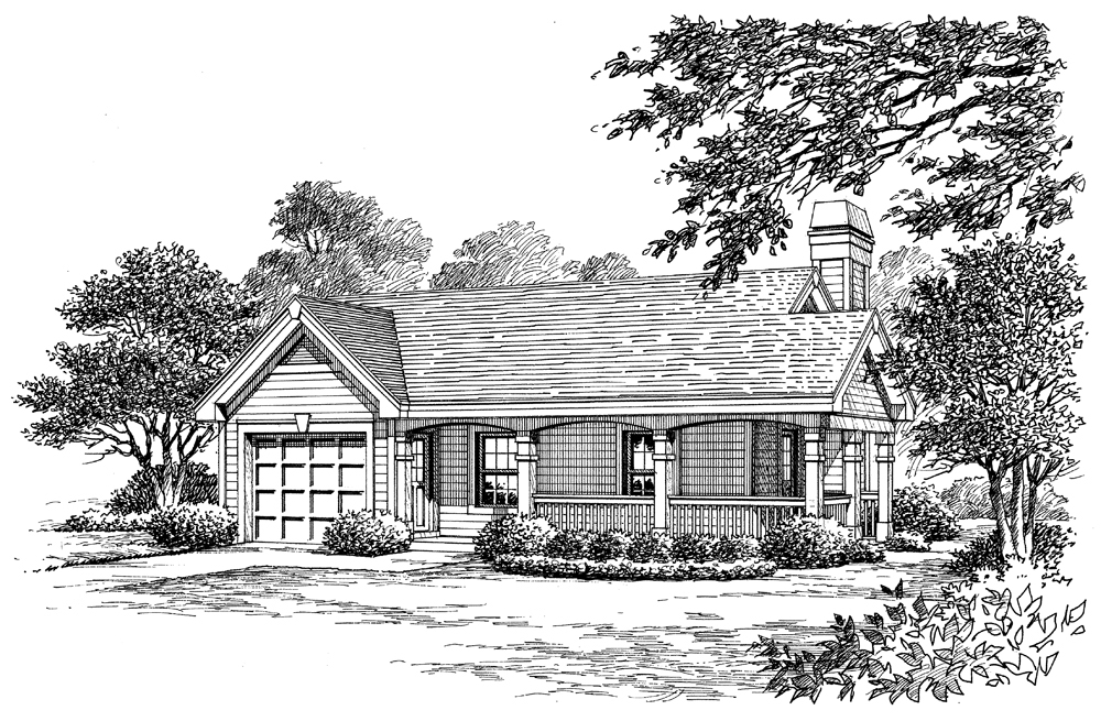 Cottage House Plan 138 1173 1 Bedrm 480 Sq Ft Home