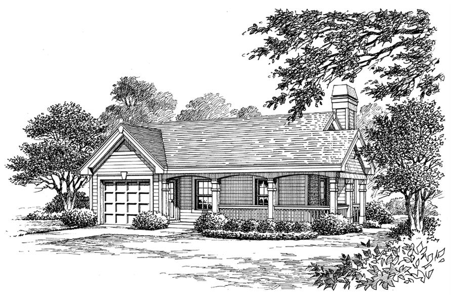 Home Plan Rendering of this 1-Bedroom,480 Sq Ft Plan -480