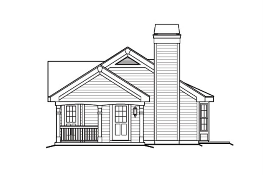 Home Plan Right Elevation of this 1-Bedroom,480 Sq Ft Plan -138-1173