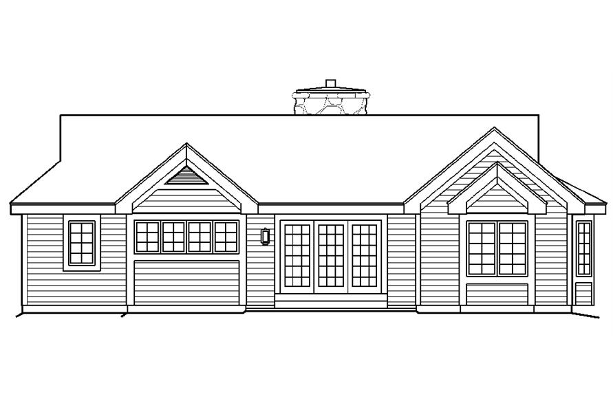 138-1174: Home Plan Rear Elevation
