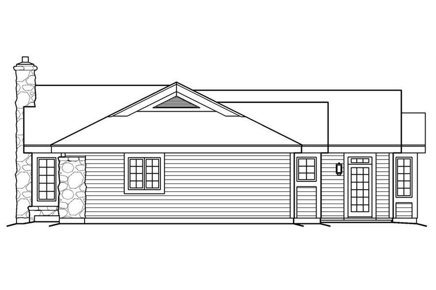 138-1174: Home Plan Right Elevation
