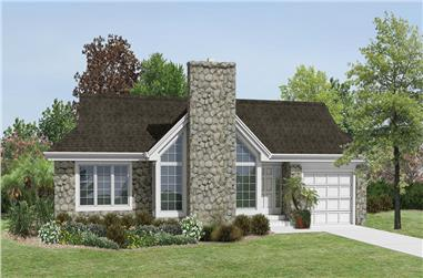 2-Bedroom, 1687 Sq Ft Cottage Home Plan - 138-1174 - Main Exterior