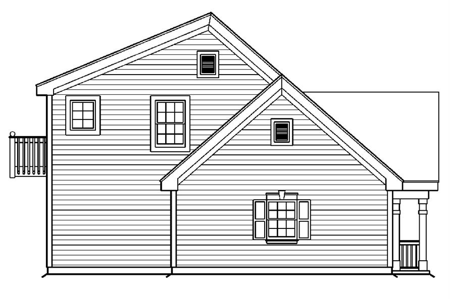 138-1175: Home Plan Left Elevation