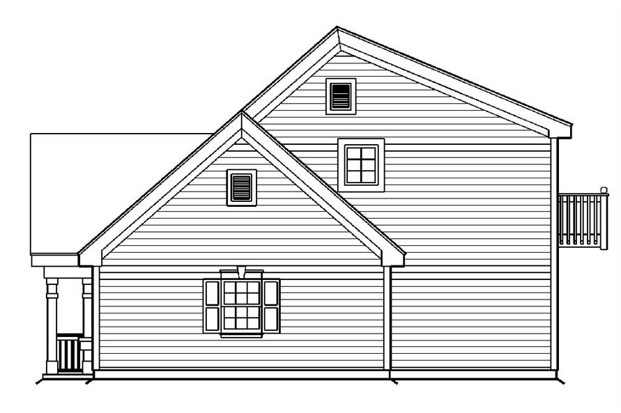 138-1175: Home Plan Right Elevation