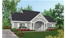 Front elevation of Garage w/Apartments home (ThePlanCollection: House Plan #138-1175)