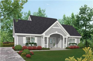 1-Bedroom, 831 Sq Ft Garage w/Apartments Home Plan - 138-1175 - Main Exterior