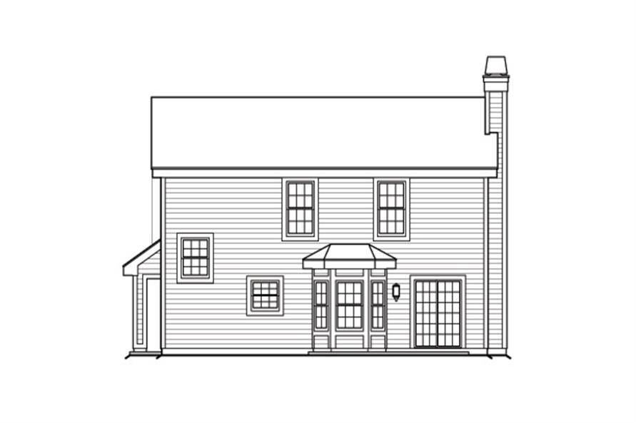 138-1176: Home Plan Rear Elevation
