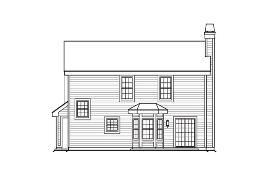 138-1176: Home Plan Rear Elevation