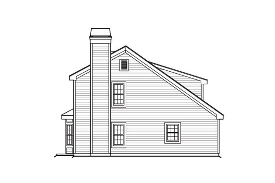 138-1176: Home Plan Left Elevation
