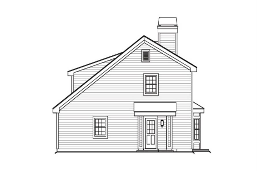 138-1176: Home Plan Right Elevation
