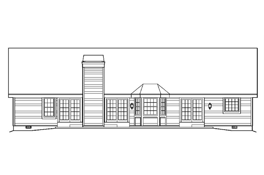 138-1177: Home Plan Rear Elevation