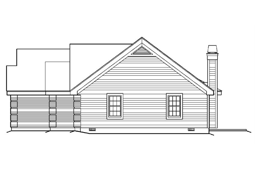 138-1177: Home Plan Right Elevation