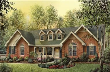 4-Bedroom, 1929 Sq Ft Traditional House Plan - 138-1177 - Front Exterior