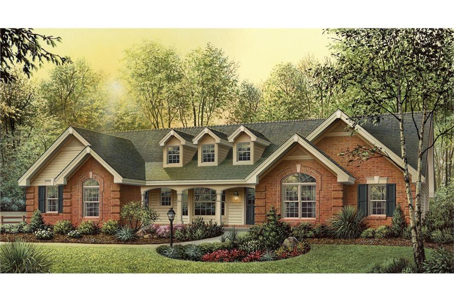 Front elevation of Traditional home (ThePlanCollection: House Plan #138-1177)