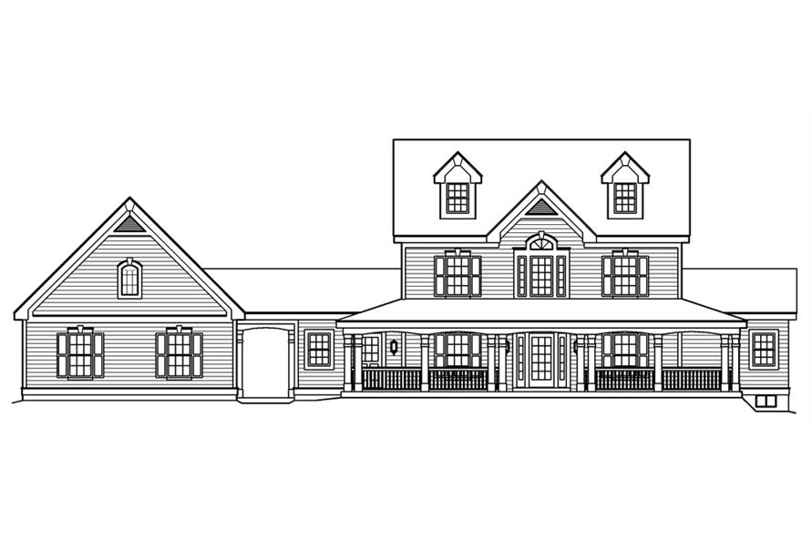 138-1178: Home Plan Front Elevation