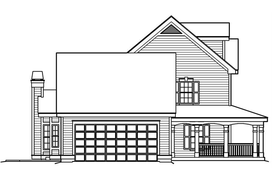 138-1178: Home Plan Left Elevation