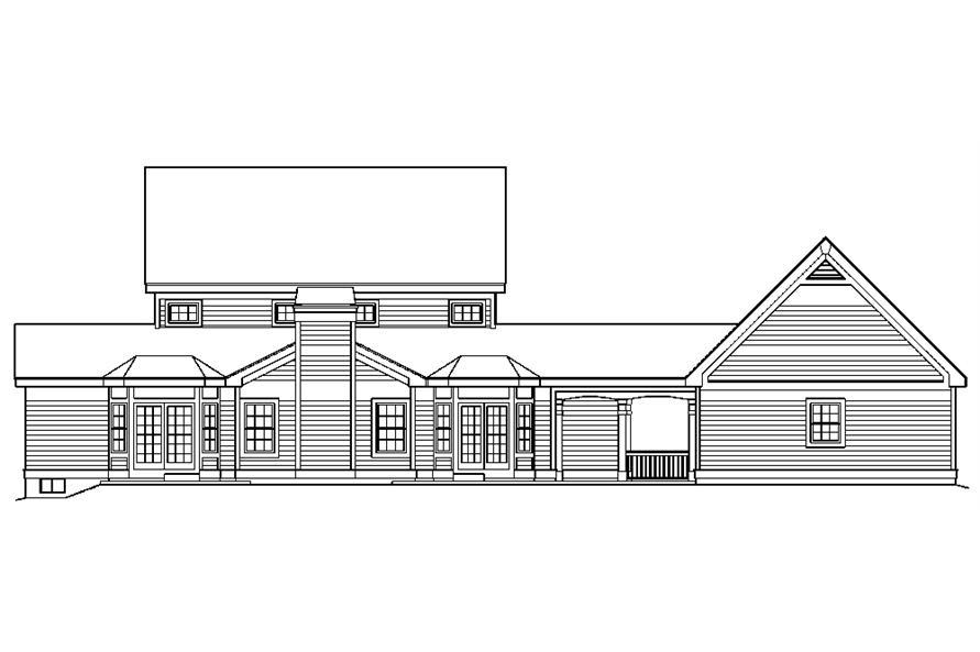 138-1178: Home Plan Rear Elevation