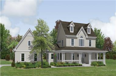 4-Bedroom, 2694 Sq Ft Traditional House Plan - 138-1178 - Front Exterior